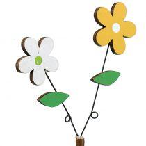 Fleur en bois déco-coupé H44cm 6pcs