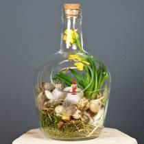 Pot décoratif avec bouteille en verre Ø19cm H30cm