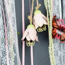 Fleur en métal Décoration à accrocher 13cm 3pcs
