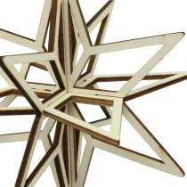 Bois étoile 3D à accrocher 13,5cm 6pcs