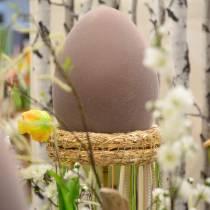 Oeuf de Pâques floqué grand 40cm