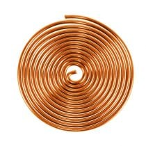 Spirale en fil d'aluminium orange 2mm 120cm