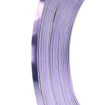 Fil en aluminium plat lavande 5 mm 10 m
