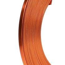 Fil en aluminium plat orange 5 mm 10 m