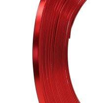 Fil en aluminium plat rouge 5 mm 10 m