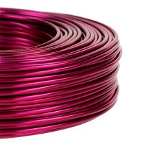 Fil en aluminium Ø 2 mm 500 g 60 m rose fuchsia
