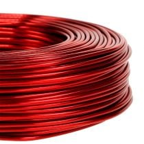 Fil en aluminium Ø 2 mm 500 g 60 m rouge