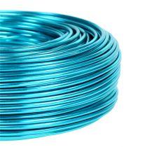 Fil aluminium Ø2mm 500g 60m turquoise