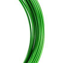 Fil aluminium 2mm 100g vert pomme