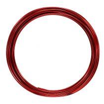 Fil aluminium 2mm 100g rouge
