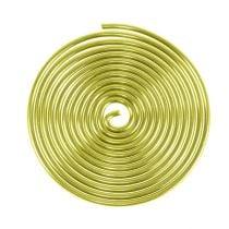 Spirale en aluminium dorée 2mm 120cm