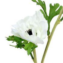 Anémone blanche factice 6 p.
