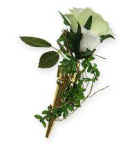 Broche de mariage magnétique, or brillant 7 cm