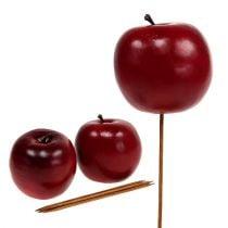 Pomme artificielle rouge Ø7.5cm 6pcs