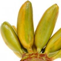 Régime artificiel de banane, fruit décoratif, bébé banane L7–9cm