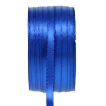 Ruban décoratif bleu 6mm 50m