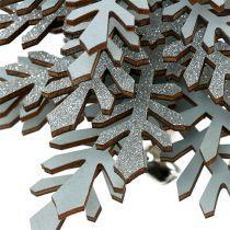 Suspension Sapin de Noël avec clochette Argent 40cm