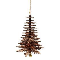 Suspension Sapin de Noël avec clochette Cuivre 40cm