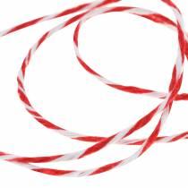 Cordon rouge/blanc 220m