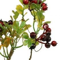 Branche artificielle de baies cotonéaster rouge 50 cm 2 p.