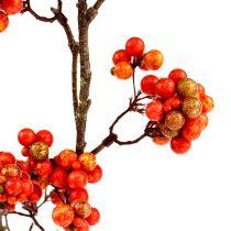 Branche de baies oranges L. 50 cm 4 p.