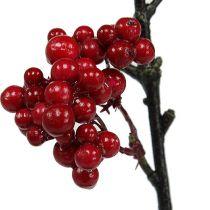 Branche de baies rouges 50 cm 4 p.