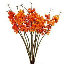 Branche de baies oranges L. 30 cm 12 p.
