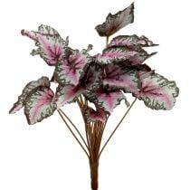 Bouquet de bégonia artificiel vert, violet 34 cm