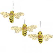 Clip décoratif abeille, décoration de printemps, abeille à pince, décoration cadeau 3 pièces