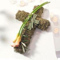Croix en mousse florale petite noire 42cm 4pcs Fleuriste funéraire
