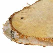 Rondelles de bois de bouleau ovale naturel 7,5 × 13cm 1kg