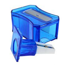 Taille-crayon bleu 6 cm