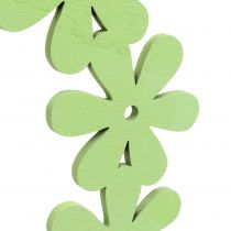 Couronne de fleurs en bois verte Ø 35 cm 1 p.