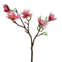 Petit magnolia rose/rose vif L53cm 3P