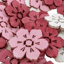 Fleurs en bois fleurs de cerisier, printemps décoration saupoudrer, décoration de table, fleurs à saupoudrer 72pcs