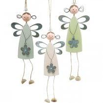Fée aux fleurs avec pattes d'arbre, printemps, petits elfes avec fleur, cintre de décoration fleur elfe 3pcs