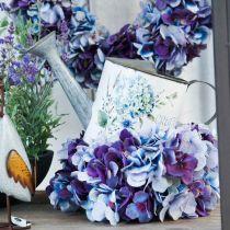 Pot de fleur arrosoir pot de décoration de jardin hortensia en métal 15cm
