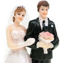 Couple de jeunes mariés figurine de mariage H. 10 cm
