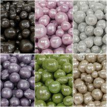 Perles décoratives brillantes colorées 4-8 mm 1 l.