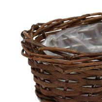 Corbeille à pain ovale non pelée 20cm H8cm
