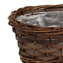 Corbeille à pain ovale non pelée 25cm H9cm