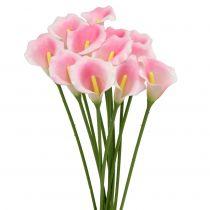 Calla déco fleur rose 57cm 12pcs