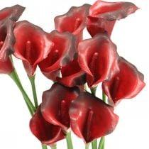 Calla rouge bordeaux fleurs artificielles en bouquet 57cm 12pcs