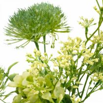 Fleurs en soie, bouquet artificiel, décoration florale aux chardons 40cm