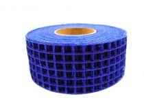 Ruban grillagé bleu 4,5 cm x 10 m