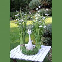 Touffes d'herbe avec fleurs blanches 70 cm