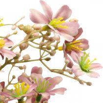 Branche décorative avec fleurs Branche Daphné rose artificielle 110cm 3pcs