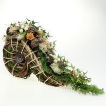 Récipient à plantes pour décoration funéraire 22 x 40 cm 1 p.