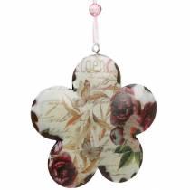 Fleur décorative pour pivoines suspendues décoration de ressort en métal nostalgique 4pcs