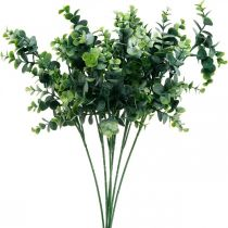 Branche d'eucalyptus décorative vert foncé eucalyptus artificiel plantes vertes artificielles 6 pièces